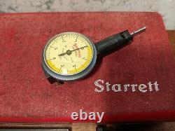 STARRETT. 0001 INCH LAST WORD DIAL INDICATOR NO 711-T1 with CASE