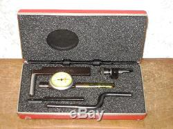 STARRETT. 0001 INCH LAST WORD DIAL INDICATOR NO 711 with CASE & ATTACHMENTS
