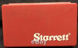 STARRETT. 0005 Inch DIAL INDICATOR NO. 3 709A with Original Case And Attachments