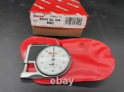 STARRETT 1010Z Pocket Dial Thickness Gauge Acc. 001 With Case NEW