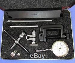 STARRETT 196A Plung Back Dial Test Indicator Set, in red case Machinist