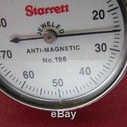 STARRETT 196A6Z. Anti-Magnetic. Dial Test Indicator in red Case Machinist