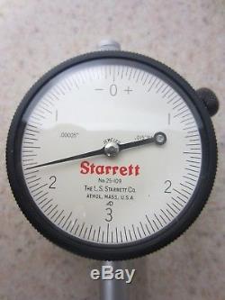 STARRETT 25-109J DIAL INDICATOR. 00005 Range. 015