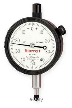 STARRETT 25-141J Dial Indicator, 0 to 0.250 In, 0-50-0