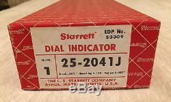 STARRETT 25-2041J (53309) Dial Indicator 2 Travel EXCELLENT