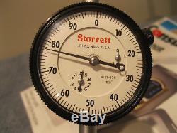 STARRETT 25-3041J DIAL INDICATOR 3 TRAVEL (no engravings) READ