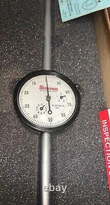 STARRETT 25-4041J Dial Indicator, 0 to 4 In, 0-100 NOS VINTAGE Machine shop surplu