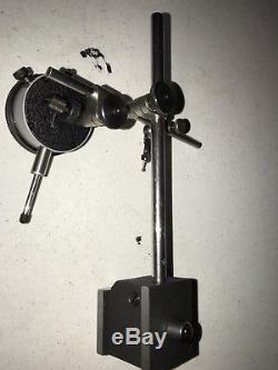 STARRETT #25-441J DIAL INDICATOR/#657 Mag base/#711 dial