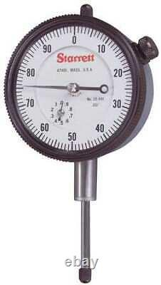 STARRETT 25-441J Dial Indicator, 0 to 1 In, 0-100