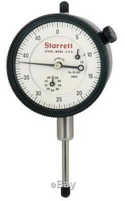 STARRETT 25-631J Dial Indicator, 0 to 1 In, 0-50-0