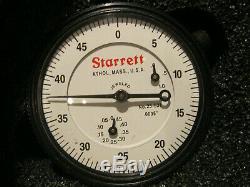 STARRETT 25-631J WCSC DIAL INDICATOR WithCASE STEM CAP 0-1.000 MACHINIST TOOLS