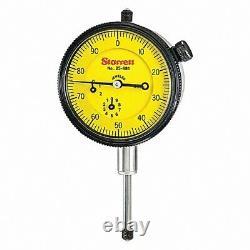 STARRETT 25-881J Dial Indicator, 0 to 25mm, 0-100