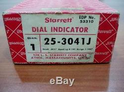STARRETT 3 Inch Dial Indicator Model 25-3041J