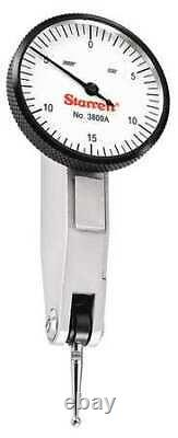 STARRETT 3809A Dial Test Indicator Set, 1-1/4, White