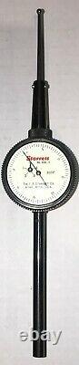 STARRETT 650-5 BACK PLUNGER DIAL INDICATOR With DEEP HOLE ATTACHMENT. 0005 GRADS