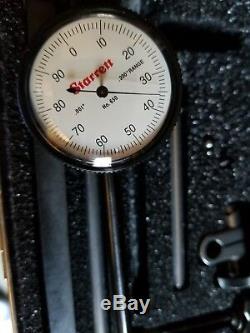 STARRETT 650A1Z Back Plunger Dial Indicator