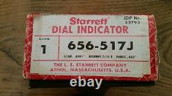 STARRETT 656-517J Anti-Magnetic Indicator 0-10-0 Dial, Excellent condition