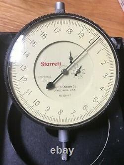 STARRETT 656-617 JEWELED DIAL INDICATOR 0.400 Range 0.0001 Graduation with Box