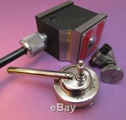 STARRETT 657 A Magnetic Base with STARRETT 196B Dial Test Indicator Machinist