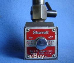 STARRETT 657 BASE WithFLEX-O-POST TOOL HOLDER SURFACE GAGE DIAL INDICATOR STAND