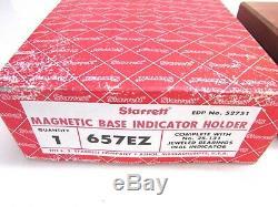 STARRETT 657EZ MAGNETIC BASE INDICATOR HOLDER with 25-131 DIAL INDICATOR