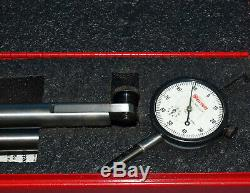 STARRETT 659-AZ MAGNETIC INDICATOR STAND with 0-1 DIAL INDICATOR 25-441