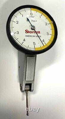 STARRETT 708A DIAL TEST INDICATOR. 010 RANGE. 0001 GRADUATION with PT22429