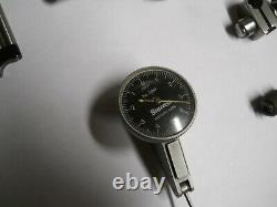 STARRETT #708A DIAL TEST INDICATOR IN CASE WithATTACHMENTS. 0001 used