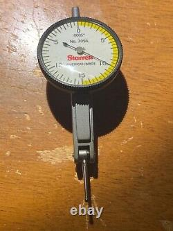 STARRETT 709AZ Dial Test Indicator, Hori, 0 to 0.030 In