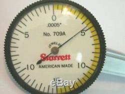 STARRETT 709AZ Dial Test Indicator, Horizontal, 0-15-0 Inch. 0005 graduations