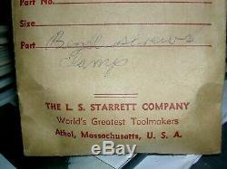 STARRETT BROWN SHARPE FEDERAL DIAL IND. PARTS N. O. S VINTAGE in ENVELOPES
