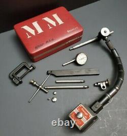 STARRETT Back Plunger Dial Test Indicator 196 Set & 657 Magnetic Base Machinist
