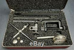STARRETT Back Plunger Dial Test Indicator 196A1Z No. 196 & Attachments Machinist