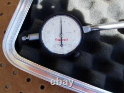 STARRETT DIAL INDICATOR 25-131 with MAGNETIC BASE 657 SET + CASE GOOD CONDITION