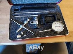 STARRETT DIAL TEST INDICATOR #196A1Z with CASE & ATTACHMENTS
