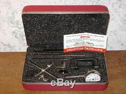 STARRETT DIAL TEST INDICATOR NO196A1Z with CASE & ATTACHMENTS LOT1