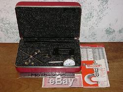 STARRETT DIAL TEST INDICATOR NO196A1Z with CASE & ATTACHMENTS SUPER CLEAN TOOLS