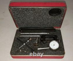 STARRETT DIAL TEST INDICATOR NO196A1Z with CASE, BOX & ATTACHMENTS