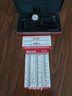 STARRETT LAST WORD DIAL INDICATOR NO 711.001 GCSZ With ATTACHMENTS in case