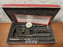 STARRETT LAST WORD DIAL INDICATOR NO 711 with CASE & ALL ATTACHMENTS