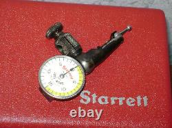 STARRETT LAST WORD DIAL INDICATOR NO 711 with CASE-BOX & ALL ATTACHMENTS