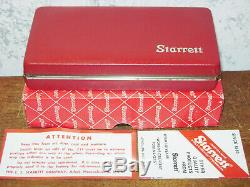 STARRETT LAST WORD DIAL INDICATOR NO 711 with CASE-BOX ATTACHMENTS NEW OLD STOCK