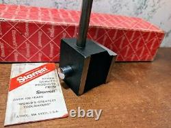 STARRETT MAGNETIC BASE NO 657AA with BOX & NILCO. 0001 INCH DIAL INDICATOR