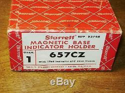 STARRETT MAGNETIC BASE & STARRETT. 001 Inch DIAL INDICATOR SET NO 657CZ