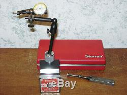 STARRETT MAGNETIC BASE with FINE ADJUSTMENT & STARRETT LAST WORD DIAL INDICATOR