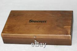 STARRETT NO. 657 Wooden Box Set MAGNETIC BASE