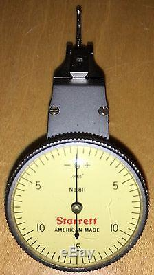 STARRETT NO. 811-5CZ SWIVEL HEAD DIAL TEST INDICATOR IN CASE WithATTACHMENTS. 0005