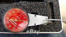 STARRETT NO. 811 SWIVEL HEAD DIAL TEST INDICATOR IN CASE WithATTACHMENTS. 001