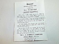 STARRETT No. 196 Machinist Jeweled (. 001). 200 Range Dial Indicator, USA