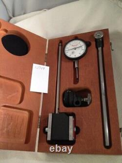 STARRETT No. 25-341.001 JEWELED DIAL INDICATOR With No. 657 MAGNETIC BASE. With BOX